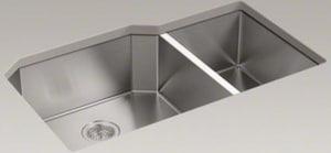Kohler Strive® 35-1/2 x 20-1/4 in. Stainless Steel Double Bowl Undermount Kitchen Sink K5282-NA