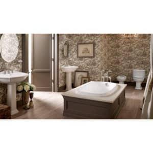 Kohler Portrait® Drop-in Bathroom Sink in White K2189-4-0