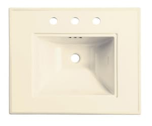 Kohler Memoirs® 24 x 20 in. 3-Hole 4 in. Centers Basin Only Lavatory Sink in Biscuit K2345-4-96