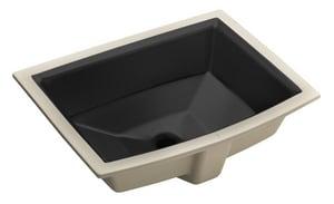 Kohler Archer® Undermount Bathroom Sink in Black Black K2355-7