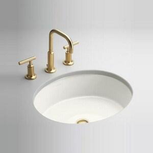 Kohler Verticyl Oval Undermount Bathroom Sink In White 2881 0 Ferguson