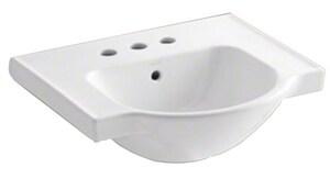 Kohler Veer™ Pedestal Vessel in White K5247-4-0