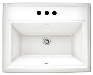 American Standard Town Square® 23-1/8 x 18-3/4 in. Drop-In Lavatory Sink 8 in. Centers in White A0700008020