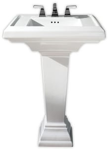 American Standard Town Square® Pedestal Bathroom Sink in White A0790008020