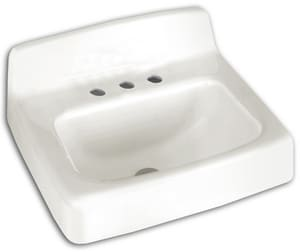 American Standard Regalyn™ 19 x 17 in. Cast Iron Wall Mount Lavatory Sink White A4867001020