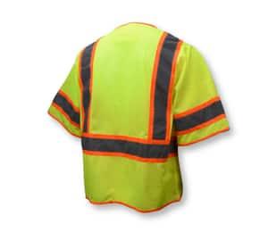 Radians Radwear™ L Size Polyester Surveyor Vest in Hi-Viz Green RSV2723ZGML at Pollardwater