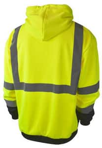 Radians Radwear™ XL Size Polyester Sweatshirt with Zipper in Hi-Viz Orange RSJ01B3ZOSXL at Pollardwater