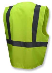 Radians L Size Polyester Class 2 Safety Vest in Hi-viz Green RSV2GSL at Pollardwater