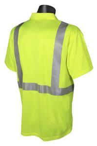 Radians Radwear™ L Size Polyester Birdseye Mesh Moisture Wicking T-shirt in Hi-Viz Green RST122PGSL at Pollardwater