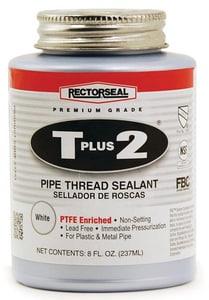 Rectorseal T Plus 2® 8 oz PVC White Pipe Joint Compound REC23551 at Pollardwater