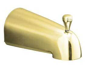 Kohler Devonshire® 4-7/16 in. Diverter Bath Spout with Slip-Fit Connection Vibrant Polished Brass K389-S-PB