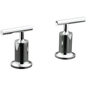 Kohler Purist® 2-Handle Deck Mount Bath Valve Trim Brushed Nickel KT14429-4-BN