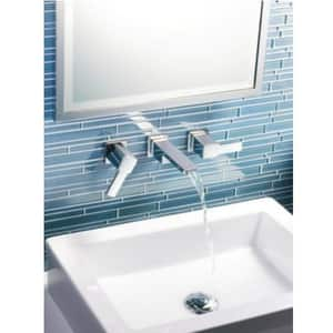 Moen 90 Degree™ Two Handle Widespread Bathroom Sink Faucet in Polished Chrome MTS6720