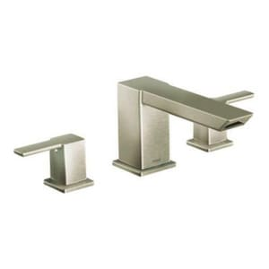 Moen 90 Degree™ Two Handle Roman Tub Faucet in Brushed Nickel Trim Only MTS903BN