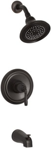 Kohler Devonshire® Single Lever Handle Pressure Balancing Bath and Shower Faucet Trim in Oil Rubbed Bronze KT395-4E-2BZ