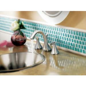 Moen Eva™ Two Handle Widespread Bathroom Sink Faucet in Polished Chrome MT6420