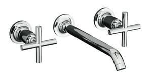 Kohler Purist® Two Handle Widespread Bathroom Sink Faucet in Polished Chrome KT14415-3-CP