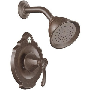 Moen Vestige™ Shower Trim Kit with Single Lever Handle and 1-Function Showerhead in Oil Rubbed Bronze MT2502ORB