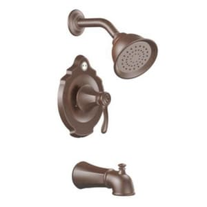 Moen Vestige™ 2.5 gpm Pressure Balancing Bath and Shower Faucet Trim with Diverter Spout and Metal Single Lever Handle in Oil Rubbed Bronze MT2503ORB