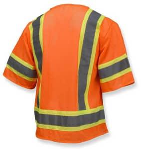 Radians Economy Two Tone Mesh Safety Vest Class 3 Hi-Viz Orange 2XL RSV223ZOM2X at Pollardwater