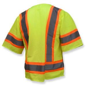 Radians Radwear™ XXXXL Size Polyester Safety Vest in Hi-Viz Green RSV223ZGM4X at Pollardwater