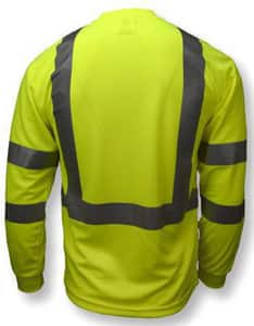 Radians Radwear™ XXXXL Size Polyester Birdseye Mesh Long Sleeve T-shirt in Hi-Viz Green RST213PGS4X at Pollardwater