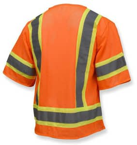 Radians Economy Two Tone Mesh Safety Vest Class 3 Hi-Viz Orange XL RSV223ZOMXL at Pollardwater