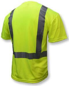 Radians ST11-2 XXXL Size Birdseye Mesh and Plastic T-Shirt with Moisture Wicking in Hi-viz Green RST112PGS3X at Pollardwater