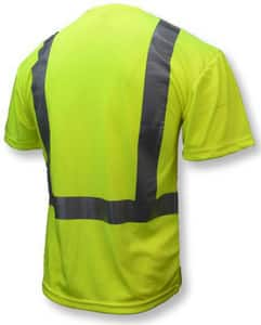 Radians ST11-2 Short Sleeve T-Shirt Class 2 Hi-Viz Green Large RST112PGSL at Pollardwater
