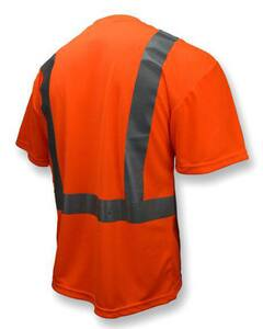 Radians ST11-2 XXXXL Size Birdseye Mesh and Plastic Safety T-Shirt with Moisture Wicking in Hi-Viz Orange RST112POS4X at Pollardwater