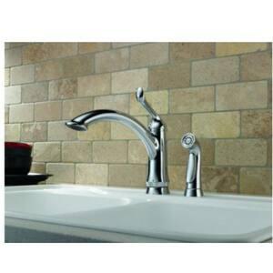 Delta Faucet Linden Single Handle Kitchen Faucet in Polished Chrome D4453DST