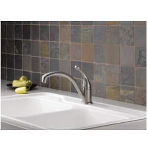 Delta Faucet Collins™ Single Handle Kitchen Faucet in White D141DST