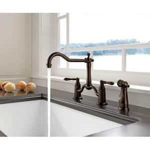 Brizo Tresa Two Handle Bridge Kitchen Faucet in Polished Chrome D62536LFPC