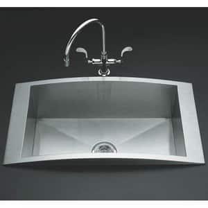 KOHLER Essex® Two Handle Kitchen Faucet in Vibrant Stainless K8762-VS