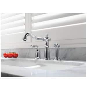 Delta Faucet Victorian® Single Handle Widespread Kitchen Faucet in Venetian Bronze D155RBDST