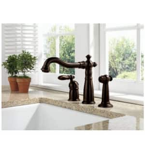 Delta Faucet Victorian® Single Handle Widespread Kitchen Faucet in Stainless D155SSDST