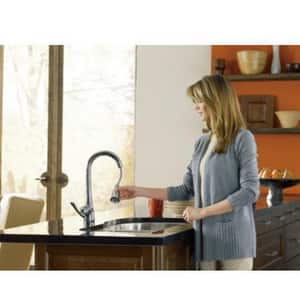 Moen Arbor™ 1.5 gpm 1 or 3 Hole Deck Mount Kitchen Faucet with Single Lever Handle in Polished Chrome M7594