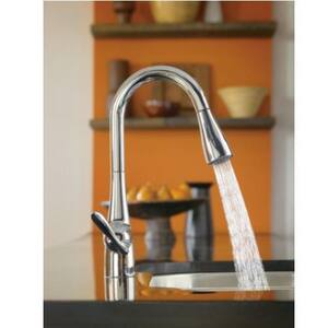 Moen Arbor™ Single Handle Pull Down Kitchen Faucet in Classic Stainless M7594CSL