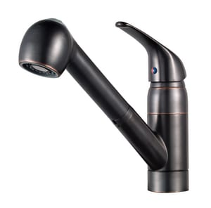 Pfister Pfirst Series™ Single Handle Pull Out Kitchen Faucet in Tuscan Bronze PG13310YY