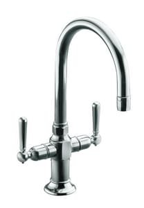 KOHLER HiRise™ Two Lever Handle Bar Faucet in Polished Stainless K7342-4-S