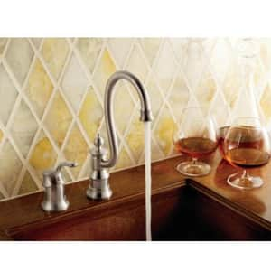 Moen Waterhill™ 2-Hole Bar Faucet with Single Lever Handle in Oil Rubbed Bronze MS611ORB