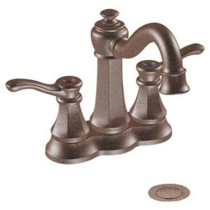 Moen Vestige™ 1.5 gpm Centerset Bathroom Faucet with Double Lever Handle in Oil Rubbed Bronze M6301ORB