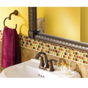 Moen Eva™ Two Handle Centerset Bathroom Sink Faucet in Oil Rubbed Bronze M6410ORB