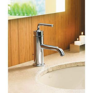 Kohler Purist® Single Handle Monoblock Bathroom Sink Faucet in Vibrant Brushed Nickel K14402-4A-BN