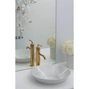 Kohler Purist® Single Handle Vessel Filler Bathroom Sink Faucet in Vibrant Brushed Nickel K14404-4A-BN