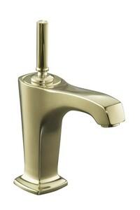Kohler Margaux® Single Handle Monoblock Bathroom Sink Faucet in Vibrant French Gold K16230-4-AF