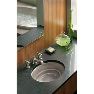 Kohler Pinstripe® Pure Two Handle Widespread Bathroom Sink Faucet in Vibrant Brushed Nickel K13132-4A-BN
