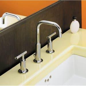 Kohler Purist® Two Handle Widespread Bathroom Sink Faucet in Vibrant Brushed Nickel K14406-4-BN