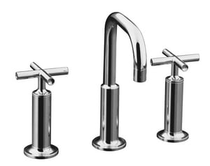 Kohler Purist® Two Handle Widespread Bathroom Sink Faucet in Polished Chrome K14407-3