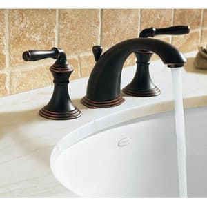Kohler Devonshire® Two Handle Widespread Bathroom Sink Faucet in Vibrant Polished Brass K394-4-PB